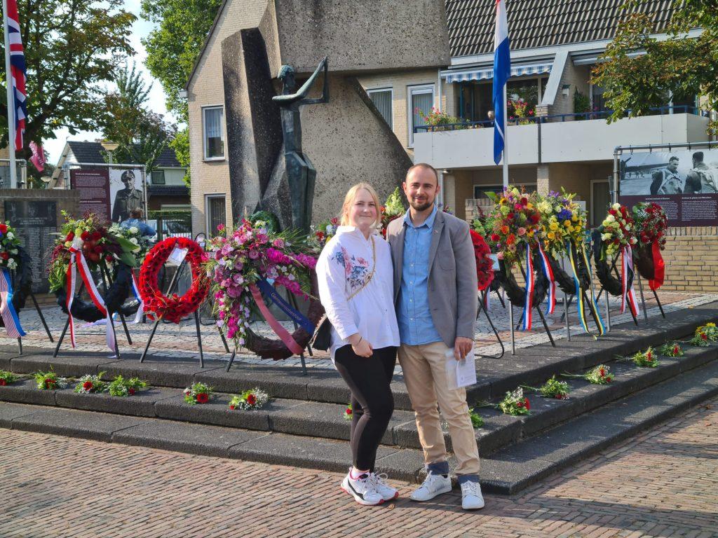 Vertegenwoordiging Poolse School Herdenking 2021 in Driel.